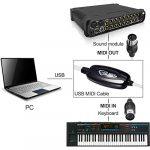 Zacro USB vers MIDI Interface adaptateur câble 2m Piano clavier musical vers PC Ordinateur Portable XP Vista Win 8Mac