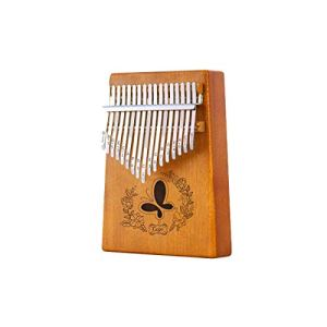 Guyuexuan Piano Kalimba 17 touches, Acajou pur, Beau ton, Facile à transporter, Facile à apprendre, Couleur du bois/Rose, Son original, Nouveautés Excellent matériel (Color : Light brown)