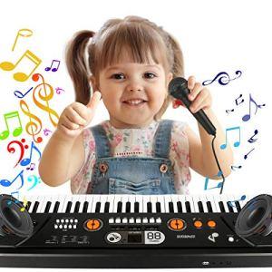Piano pour enfant 61 touches – Clavier de piano – Mini clavier portable – Instrument de musique – Pour enfants et enfants – Cadeau débutant