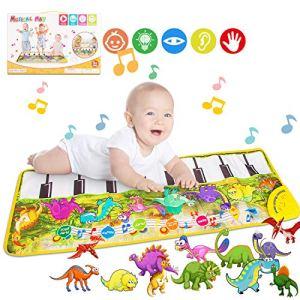 Tapis de Piano Musical Tapis, Magicfun Tapis de Piano pour Enfants Jouet de Tapis de Musique pour Piano Toddler Filles Garçons Noël (Dinosaure)