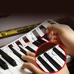 Bnineteenteam 2 Autocollants de Clavier de Piano Amovibles pour Le Symbole phonétique de 88 clés