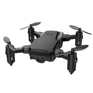 Oasics Drone Mini D2WH Pliable avec Wifi FPV 2.0MP HD Caméra 2.4G 6 axes RC Quadcopter Drone Taille: Env. 13 x 7 cm (L x W) Größe: ca. 13 x 7 cm (LxW) Noir