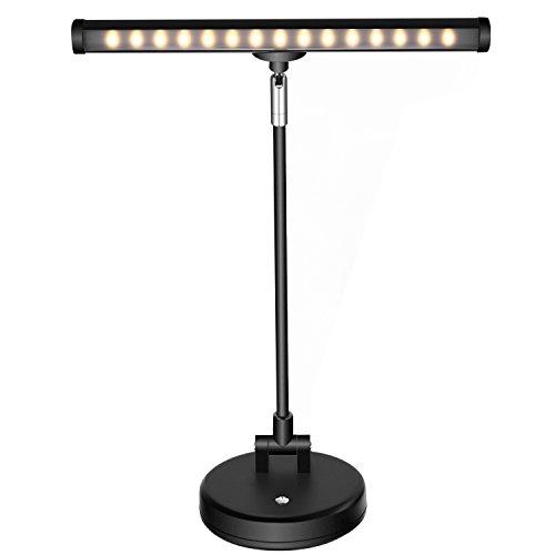 Neewer 15 LED Lampe de Piano, Lumière de Musique Col de Cygne Réglable et Base Robuste pour Support de Musique, Pupitre Piano Orchard, USB Câble et Adaptateur Secteur Inclus (noir)
