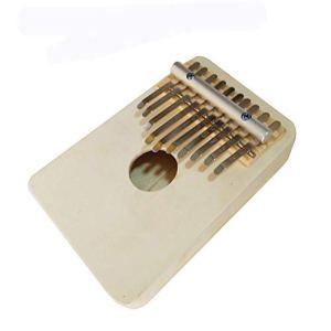Jiutinggood Piano à pouce portable en bois africain 10 touches avec instructions d'étude et marteau de accordage (français non garanti) Cadeau pour enfants adultes débutants