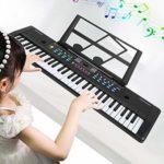 Clavier de Musique Numérique Portable pour Orgue Électronique 61 Touches Clavier Multifonction pour Instrument de Musique Électronique Portable Et Microphone pour Enfants