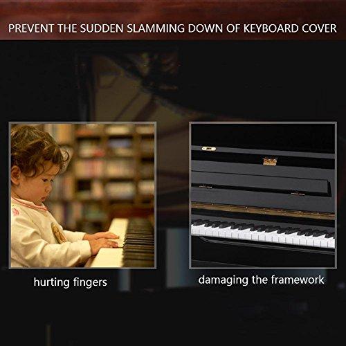 Dispositif de contrôle de Couverture de Piano en métal, Dispositif de contrôle de Piano, Concert à Domicile sécurisé Disponible pour Les Musiciens de Piano(Black)