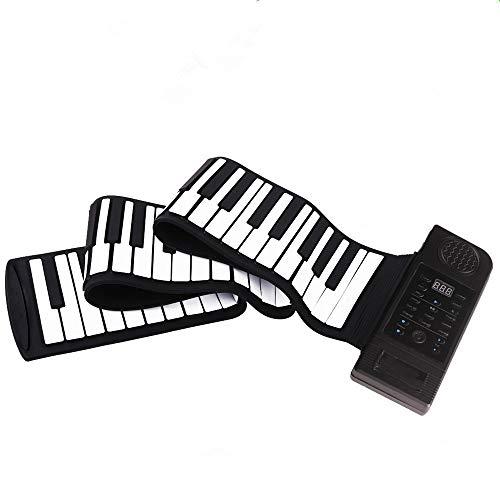 NEHARO Instrument de Musique électronique portabl Electronic Piano Clavier Silicone Piano Piano Piano Roll électronique Main Mains en Rouleau épaissie avec Son Externe Piano électronique