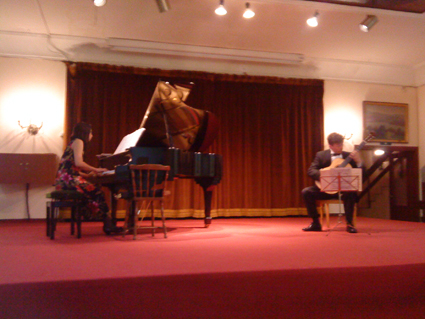 Piano guitar duo in concert on 5 May 2009