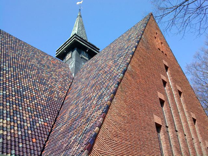Close-up of church in Bennebroek, Netherlands