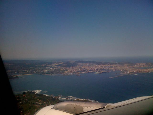 Our first view of La Coruna, from the taxi ride from the airport
