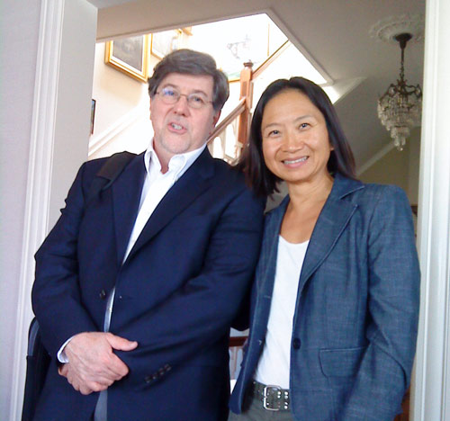 John Bilotta, composer, and Anne Ku in San Francisco, May 2011