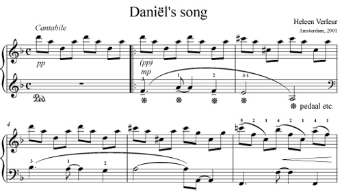 Daniel's Song by Heleen Verleur