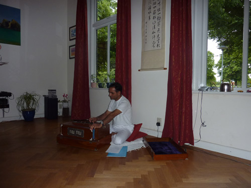 Yoga teacher Krishna at Monument House Utrecht, June 2010