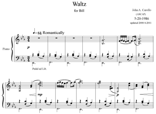 Waltz by John Carollo
