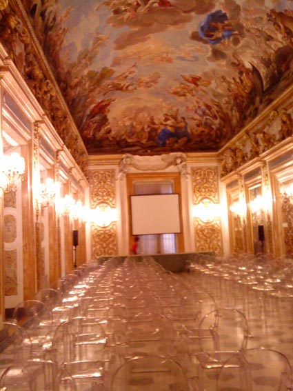 Inside Palazzo Medici Ricardi in Florence, Italy
