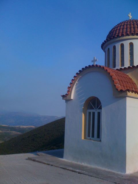 Cretan church above Paleochora, Crete