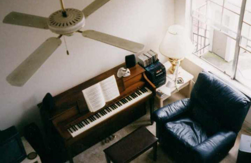 Rented Baldwin upright piano in Houston, Texas