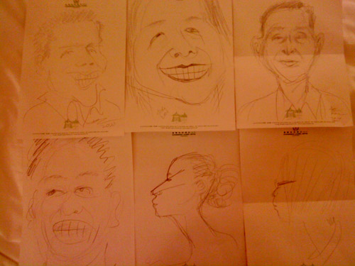 Pencil sketches of Anne Ku, Robert Bekkers, etc by Frances Ku