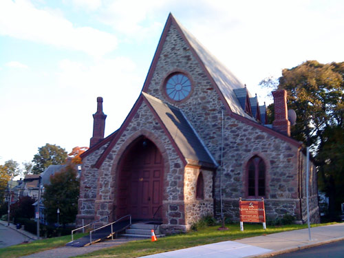 Small church in Jamaica Plain, Boston