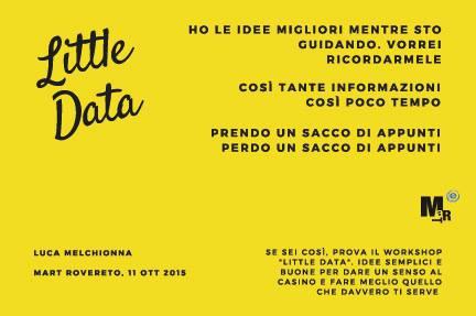 Little Data, Luca Melchionna | MART https://www.facebook.com/martrovereto/photos/a.84207202464.66949.44997517464/10152685377662465/?type=3&theater