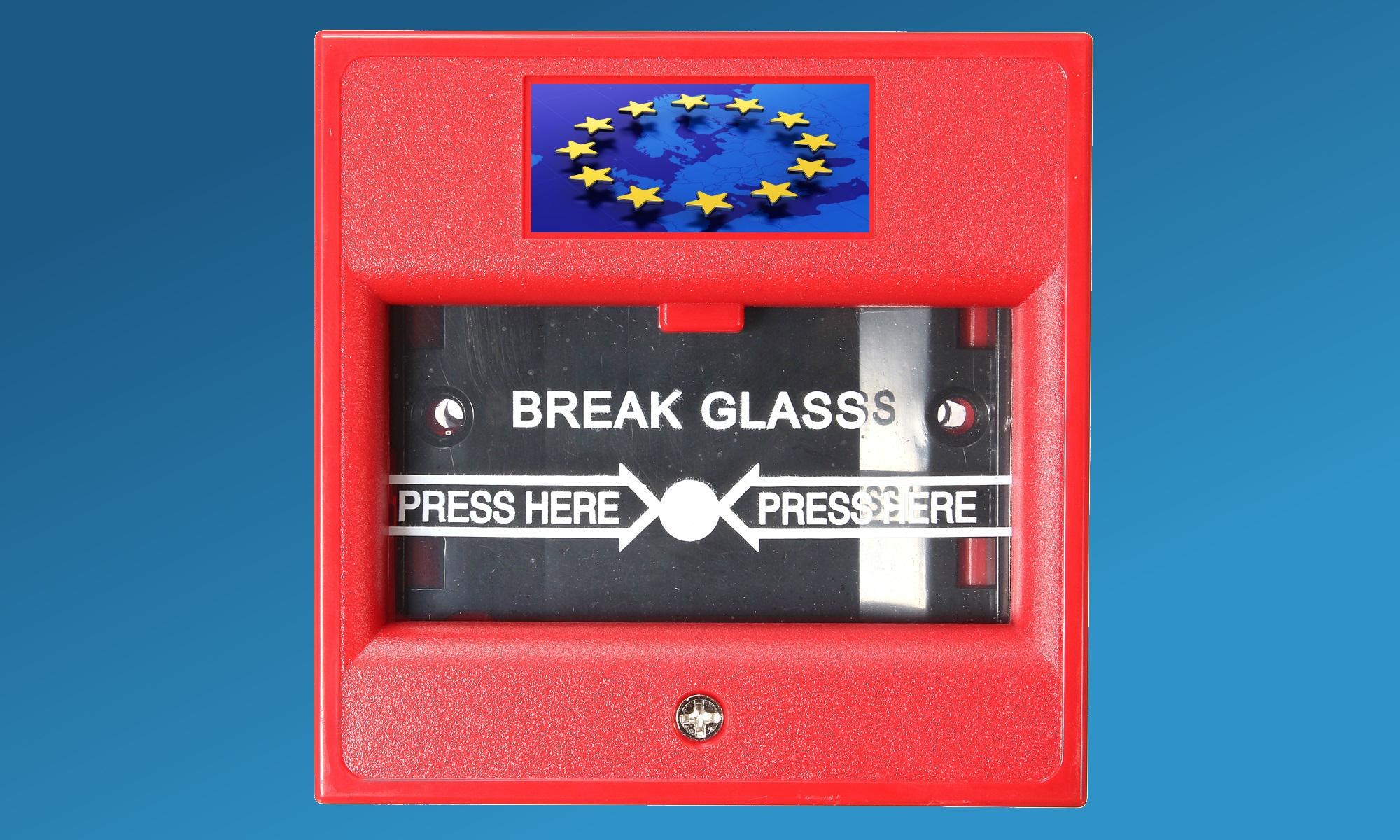 Rompere il vetro in caso di nuova crisi