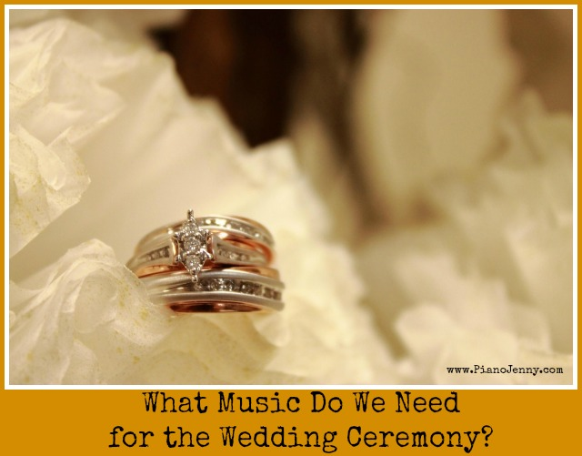 What Music Do We Need To Choose For Processional Bridal Entrance And Recessional In