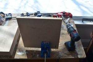 Drilling process with Kreg Jig