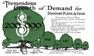 Advertisement from Standard Player Monthly, Oct. 1919