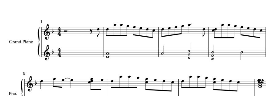 Partitura Carol of the bells