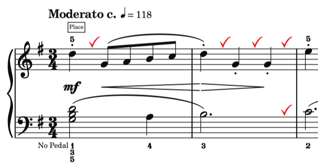 staccato in Bach