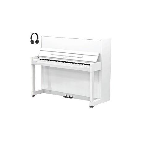 piano droit samick js 118 harmonie dream blanc perle brillant