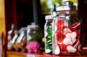 candies in jars