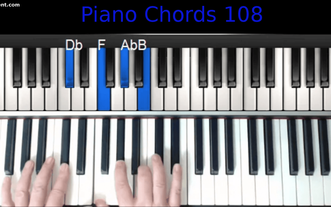 """Announcing """"Piano Chords 108: Lose That Chord Catalog"""""""