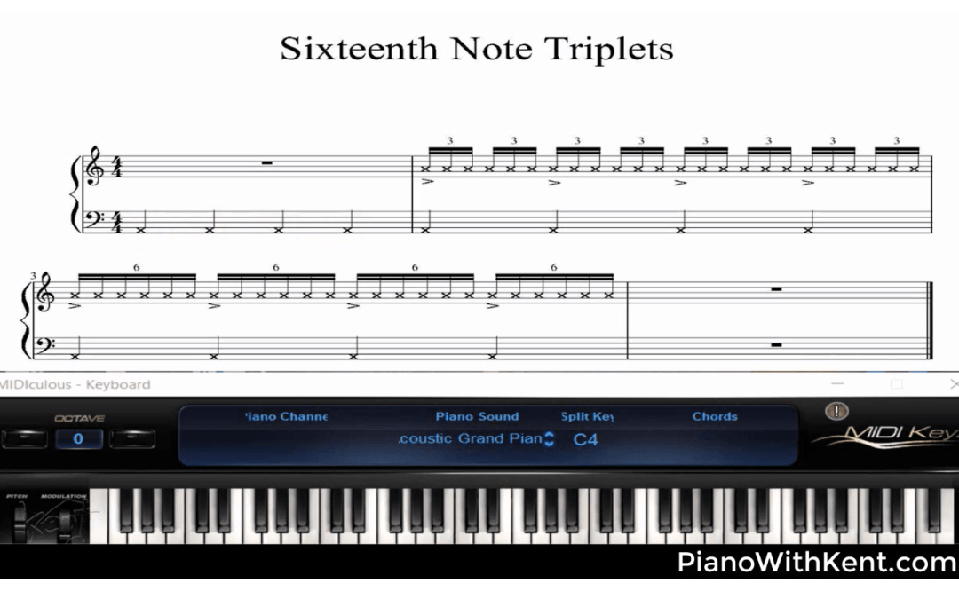 "Piano Improv Lesson: ""Sixteenth Note Triplet"" licks"