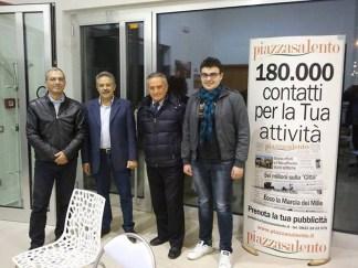 Lettori da Parabita. Da sinistra: Giovanni Mercuri, il direttore, Piero Buffo e Giuseppe Fracasso (quest'ultimo nostro corrispondente)