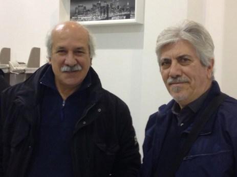 Il nostro corrispondente da Gallipoli Cosimo Perrone con il poeta Giorgio Tricarico