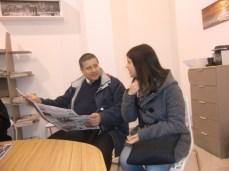 la nostra corrispondente da Galatone Silvia Resta con il padre