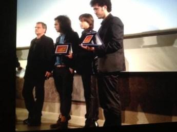 da sinistra: Franco Simone, Michele Cortese, Gianluca Paganelli e il regista degli SprinGo Film Federico Mudoni