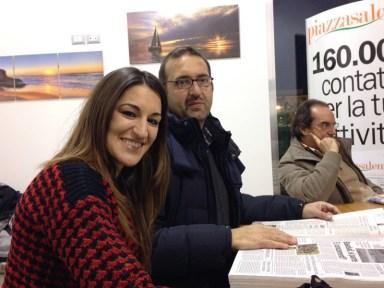 La nostra corrispondente da Matino Maria Antonietta Quintana e il nostro redattore Mauro Stefàno