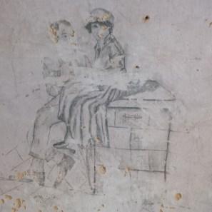 Rivellino - graffito a Elide Merenda