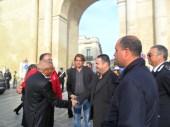 Francesco Errico sindaco di Gallipoli - Manifestazione antiraket Lecce 2014
