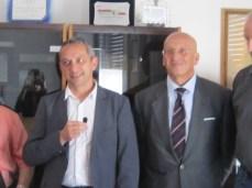 San Giorggio 2014 - Rinnovo gemellaggio - I sindaci Peter Haudenschild e Tiziano Cataldi