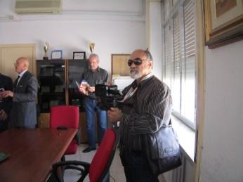 Raffaele Leopizzi a lavoro