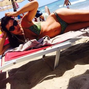Alba Parietti al Samsara beach