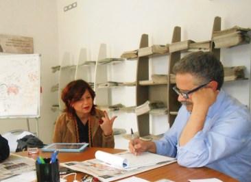 Daniela Talà di Sannicola e il direttore Fernando D'Aprile