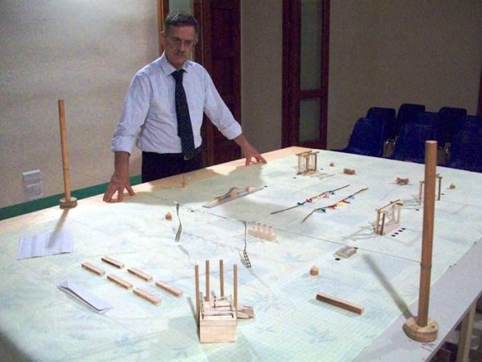 Giuseppe Manisco_plastico campo comunale e decima edizioni Palio delle Contrade