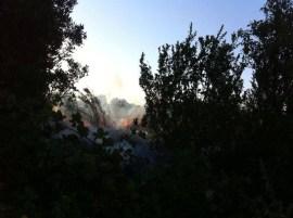 Incendio - Foto dal profilo facebook di Protezione civile Gallipoli e Taviano