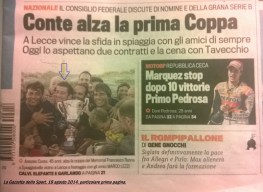 Sulla Gazzetta dello Sport 18 agosto 2014
