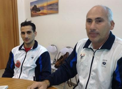 e Giorgio Perrone, di Taviano: il pugile e l'allenatore-padre