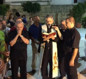 L'inagurazione con il vescovo Filograna